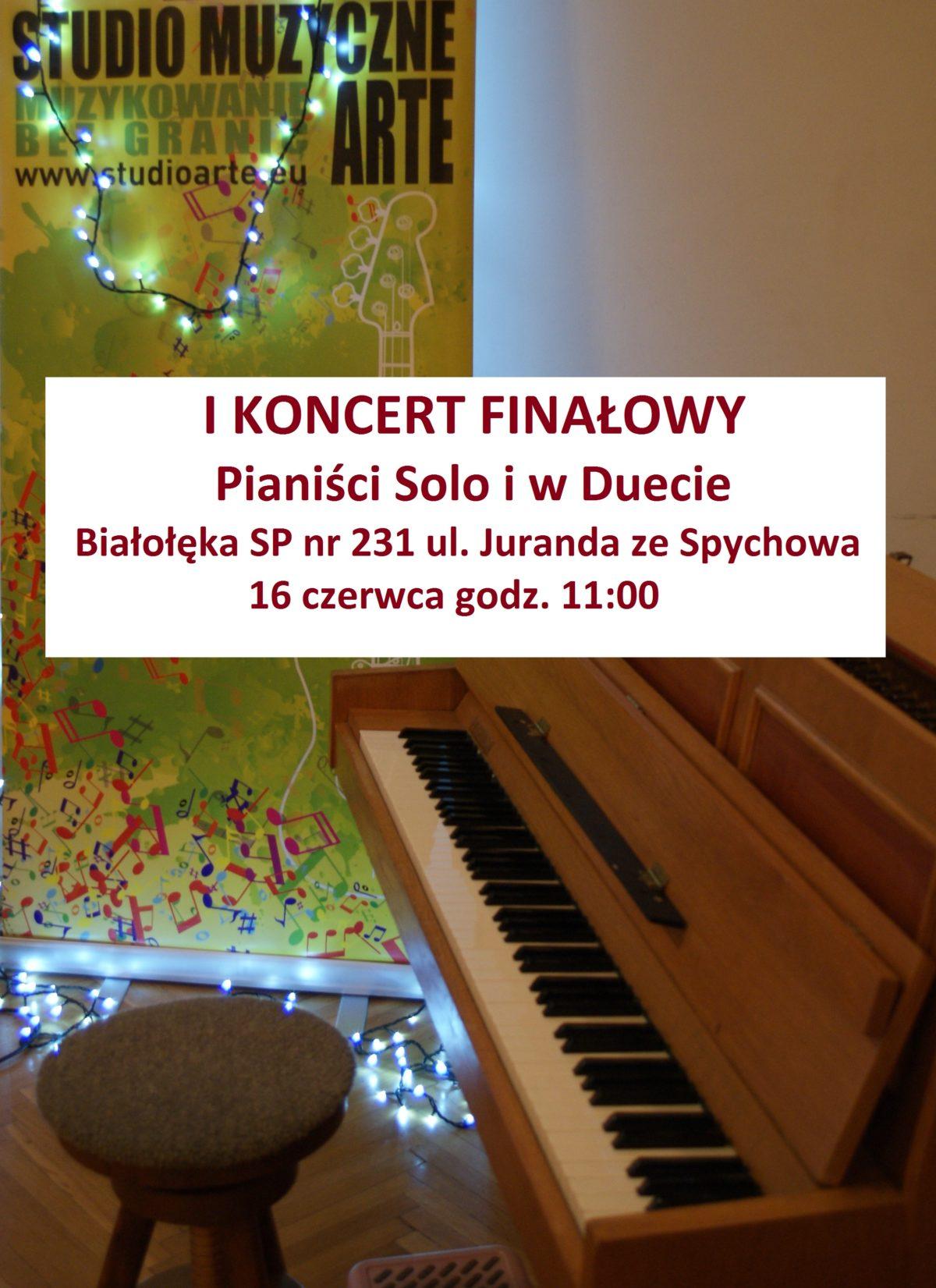 I Koncert Finałowy 16.06. godz. 11:00