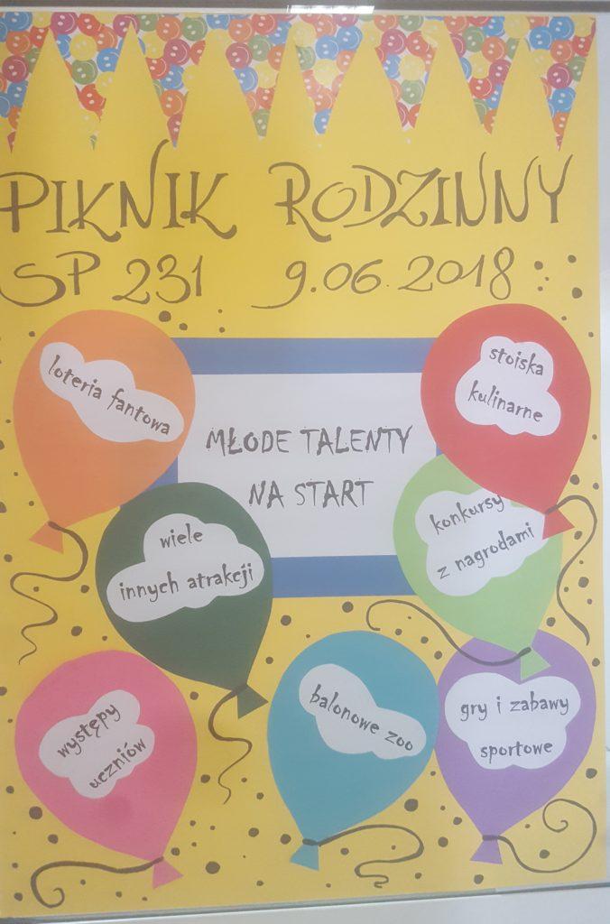 Piknik Rodzinny 9 czerwca Białołęka